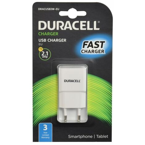 """main image of """"Chargeur USB duracell blanc 2,1A Blanc - Blanc"""""""