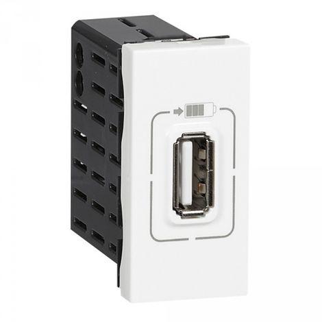 Chargeur USB Type-A 1,1A 5,5W Mosaic 1 module 230V ou 5V - blanc - Legrand