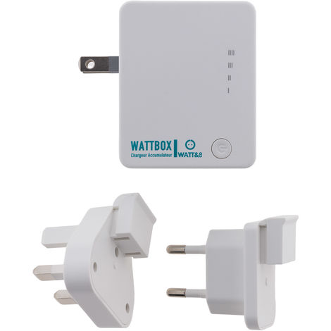 "main image of ""Chargeur USB universel avec powerbank intégrée 2600 mAh - Watt & Co"""