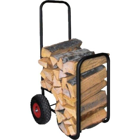Chariot à bois avec pneus caoutchouc