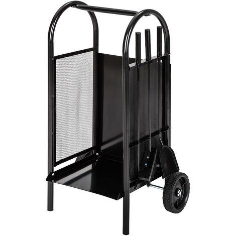 chariot b ches chariot bois panier en m tal porte et range b che sur roulette avec pelle. Black Bedroom Furniture Sets. Home Design Ideas