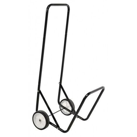 Chariot à bûches métal Noir 90 cm