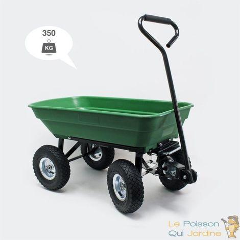 Chariot à Main 350 kg Inclinable Pour Le Jardin Ou Autres Transports - Vert