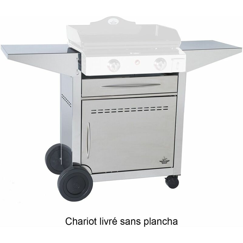 chariot plancha 127 x 50 x 86 cm - 923600 - forge adour