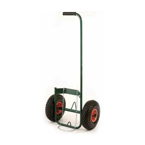 Chariot a roue gonflable porte bouteille de gaz pour desherbeur thermique