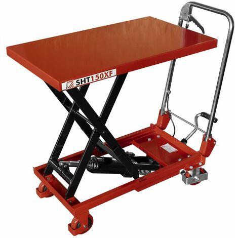 Chariot à table élévatrice à ciseaux Holzmann SHT150XF