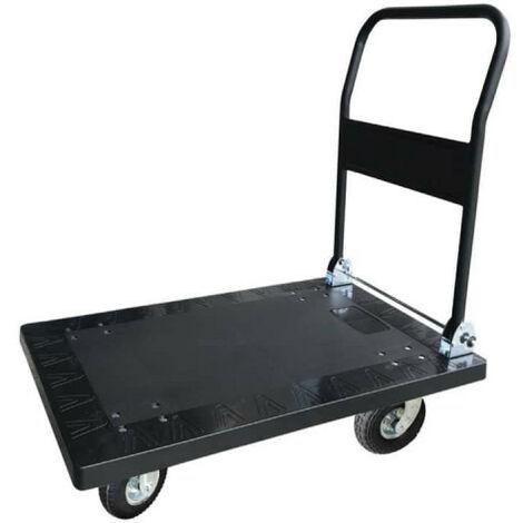 Chariot avec dossier rabattable 300 KG - 90x60x103cm