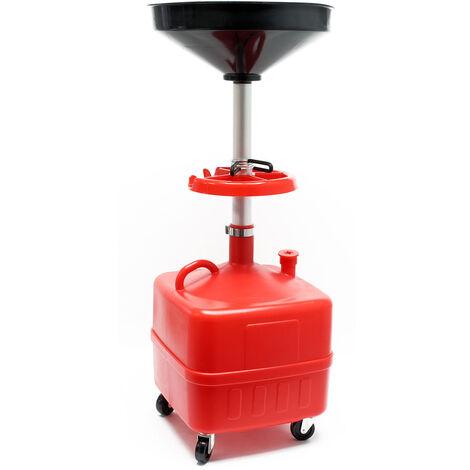 Chariot collecteur d'huile 35l Dispositif collecteur d'huile Chariot à rouleaux collecteur d'huile