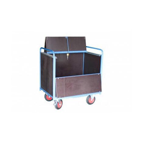 Chariot conteneur fermé - Bois bakélisés (plusieurs tailles disponibles)