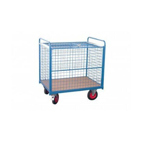 Chariot conteneur fermé - grillage (plusieurs tailles disponibles)