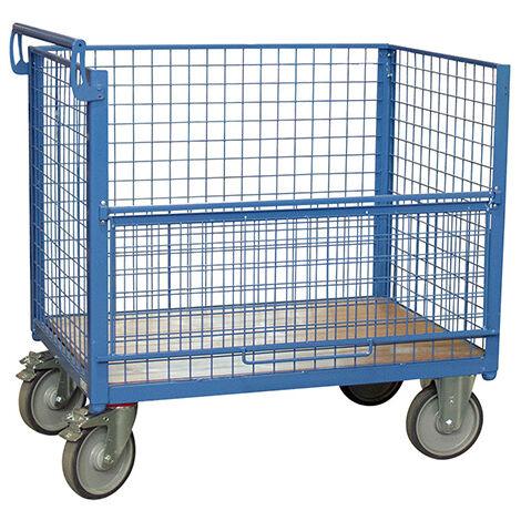 Chariot conteneur sans toit - structure grillagé (plusieurs tailles disponibles)