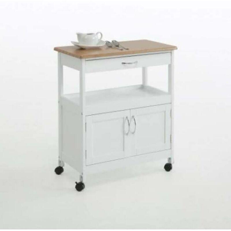 Armoire de cuisine en bois 76X67X37Cm White Wood 2 Doors+1Drawer Kit Closet