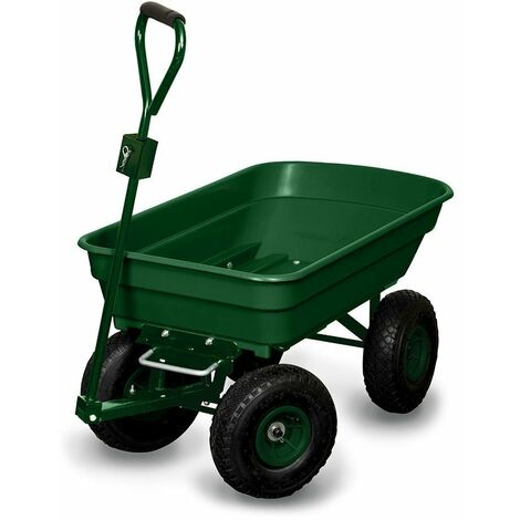 Chariot de jardin 4 roues - 52 litres capacité 120 kg