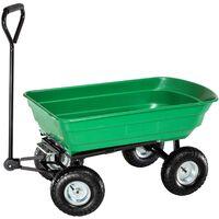 Chariot de Jardin à Benne Basculante Charge maximum 300 Kg Vert