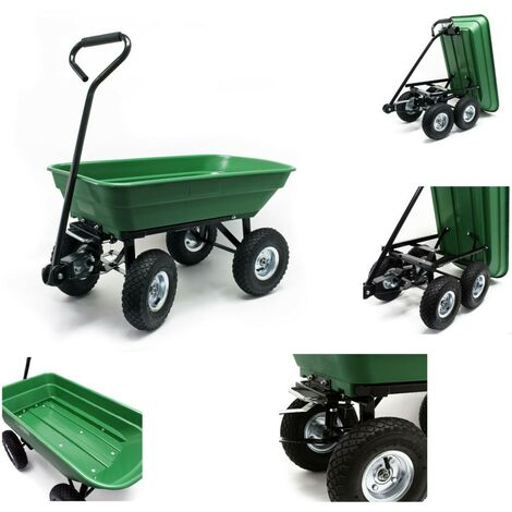 Chariot de jardin à main Benne basculante Volume 75L - 300Kg max