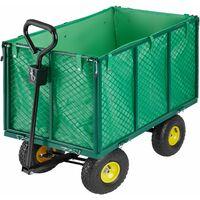 Chariot de Jardin + Bâche Charge Maximum 544 Kg Vert