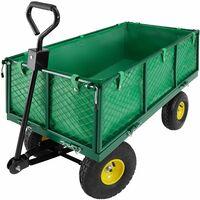Chariot de Jardin + Bâche Charge Maximum 550 Kg Vert