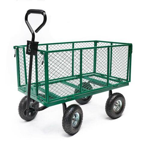 Chariot de jardin métal pliable XXL