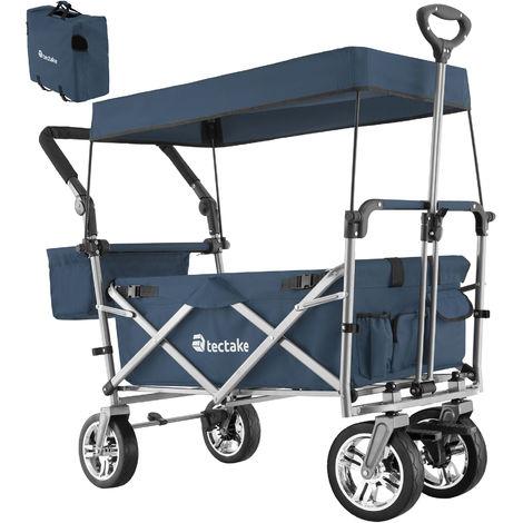 Chariot de jardin pliable 80 kg NICO - remorque à main pliable, chariot de transport pliable, chariot de jardin 4 roues