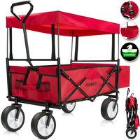 Chariot de jardin pliable avec toit amovible - Chariot a main charrette