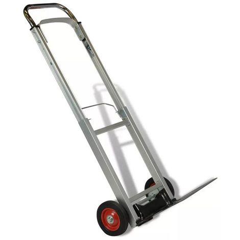 Chariot de MANUTENTION KZ Aluminium Charge 90kg Pliable Hauteur réglable Roues caoutchouc diam 14mm