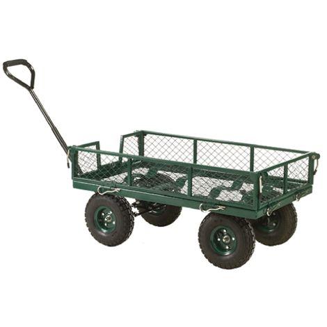 Chariot de manutention RS PRO No Côtés en treillis Acier, 1070 x 515 x 1170mm, Charge 250kg