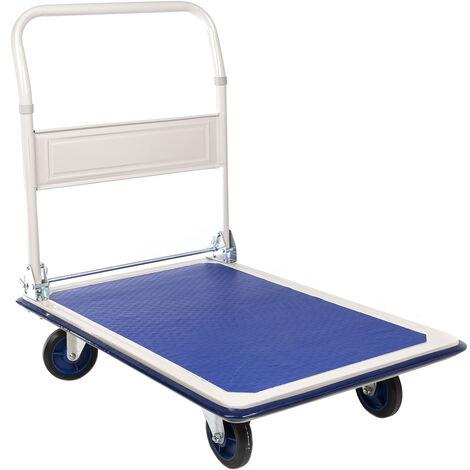 Chariot de manutention RS PRO Pliable A plat Acier, 608 x 907 x 870mm, Charge 300kg