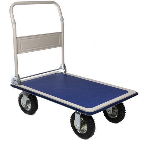 Chariot de manutention RS PRO Pliable A plat Acier, 870 x 608 x 907mm, Charge 300kg