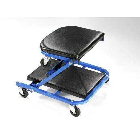 Chariot de mécanicien 2-en-1 transformable tabouret d'atelier