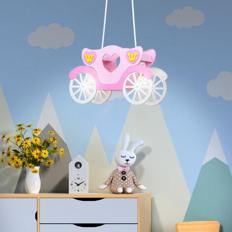 Chariot de princesse rose pâle suspendu pour les filles