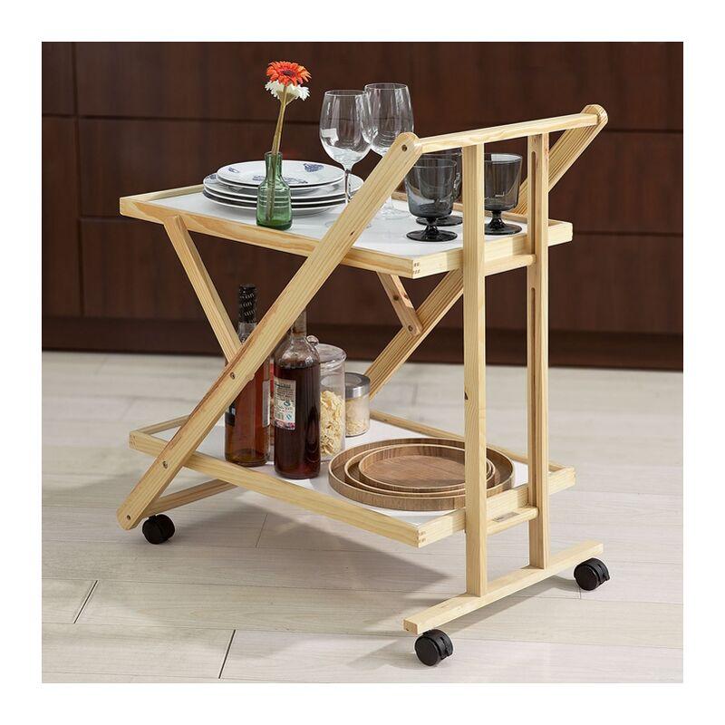 De Desserte Fkw52 Pliable Cuisine Sur Tablettes Service Roulettes Roulante Wn Sobuy® 2 Chariot UGqSLzVpM
