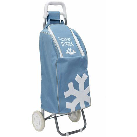 Chariot de shopping 2 roues fraîcheur - Bleu