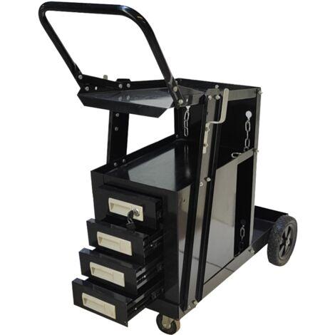 Chariot De Soudage Avec 4 Tiroirs Noir Silex®