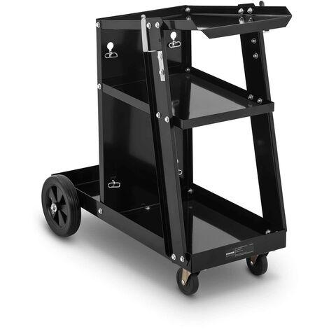 Chariot De Soudage Mobile Atelier Soudure Poste à Souder Support Bouteilles 80kg