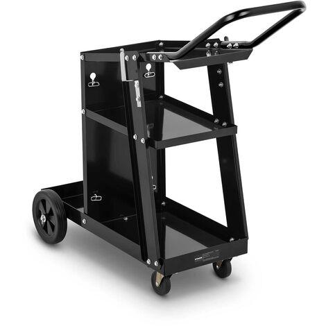 Chariot De Soudage Mobile Atelier Soudure Support Bouteilles Poste à Souder 80kg