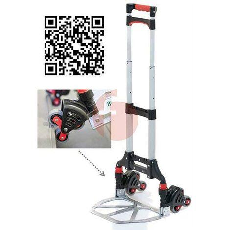 Chariot de stockage Pelle 240X360Mm Chariot d'escalier pliable Charge 50Kg Aluminium Carrivan S50Plus