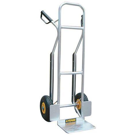 Chariot de stockage � roues pneumatiques Aluminium Ayerbe 580820