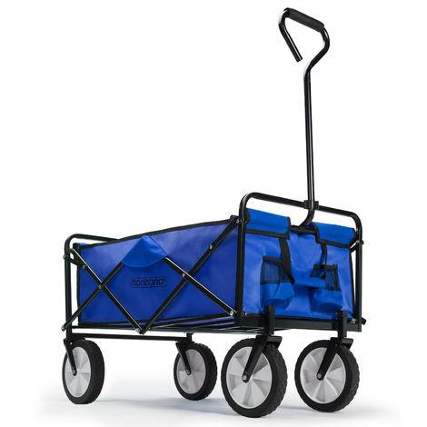 Chariot de transport - bleu et noir - pliable