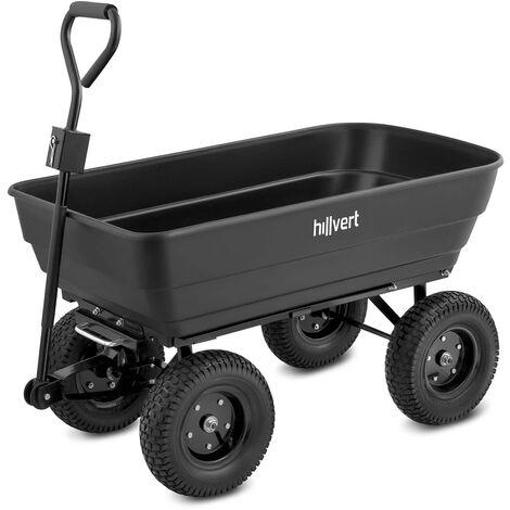 Chariot De Transport Jardin à Main Remorque Inclinable Basculant 350 Kg 125 L