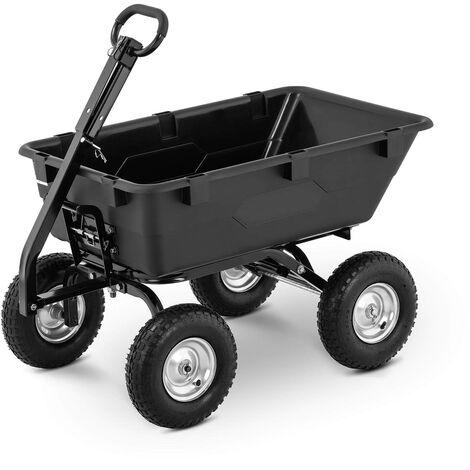 Chariot De Transport Jardin À Main Remorque Inclinable Basculant 550 Kg 150 L