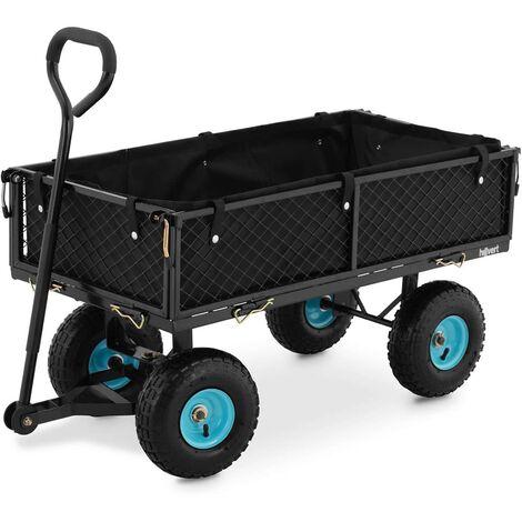 Chariot De Transport Jardin Plage Brouette Pliable Pliant 300 kg Pneus ø25 cm