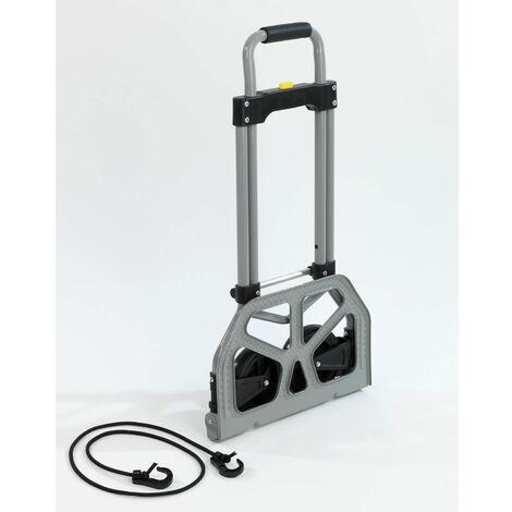 Chariot de transport pliant Secura - 70 kg max - Gris - Gris