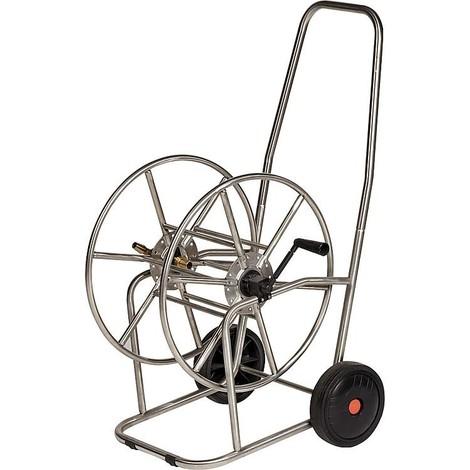 """Chariot de tuyau en inox element de raccordement en laiton sortie de tuyau 3/4"""""""