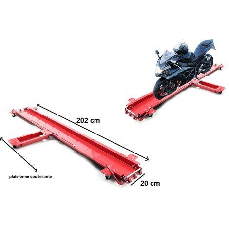 aide manoeuvre range moto jusqu/'a 360 kg Chariot déplace