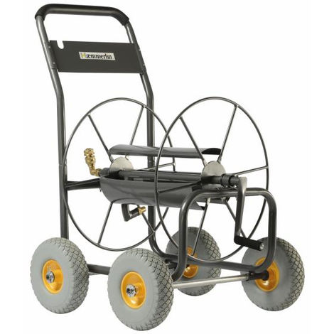 Chariot dévidoir 4 roues increvables 110m Haemmerlin
