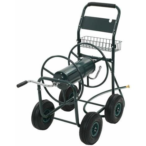 """Chariot dévidoir avec connecteur de tuyau 1/2"""" 75 m Acier"""
