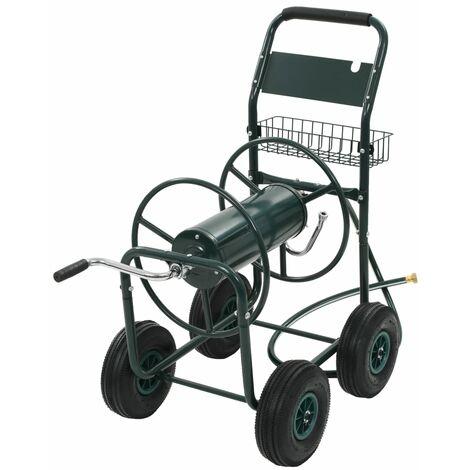 """Chariot Devidoir Avec Connecteur De Tuyau 1/2"""" Acier Vert"""