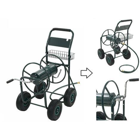 Chariot dévidoir / Enrouleur de tuyau d'arrosage en métal