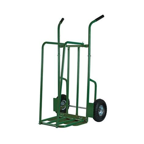 Chariot diable à bois avec roue gonflable pour transport de buches