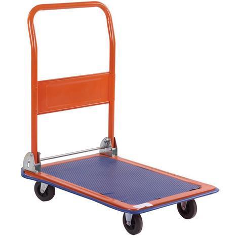 Chariot Diable plate-forme Brixo acier roues charge 62x48 cm 150kg